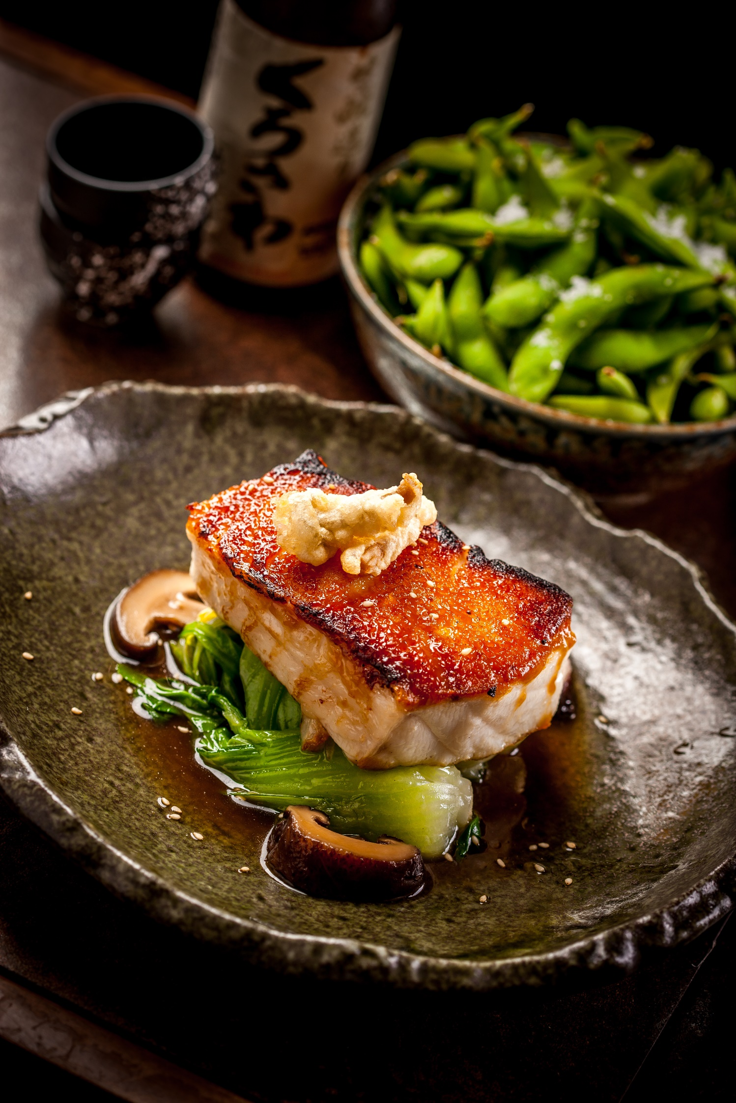 sea bass sea bass with asian greens sea bass with miso mustard sauce ...